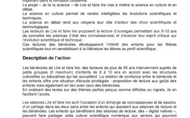 thumbnail of presentation « Je lis la science »
